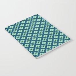 green&blue star pattern Notebook