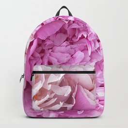 Pink Peonies Shabby Chic Cottage Peonies Backpack