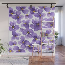 Violets are blue Wall Mural