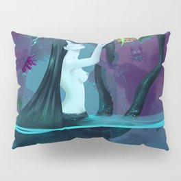 Plant collecting mermaid Pillow Sham