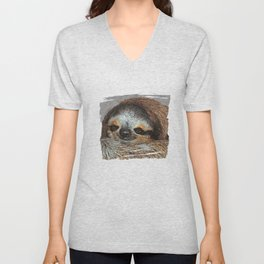 SLOTH LOVE Unisex V-Neck