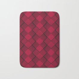 Red plaid tartan. Bath Mat