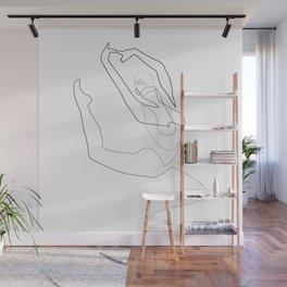 one line dancer - aloft Wall Mural