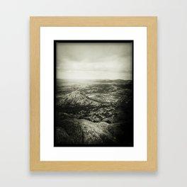 Overlooking Mount Scott Framed Art Print