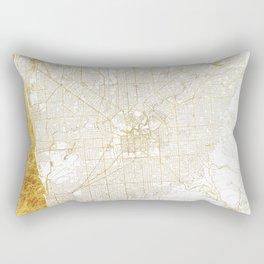Adelaide Map Gold Rectangular Pillow
