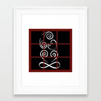 tiki Framed Art Prints featuring Tiki by Alison McLean