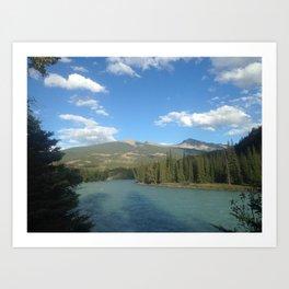 Jasper River - Canadian Rockies Art Print