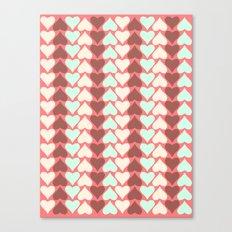 Creamy Hearts  Canvas Print
