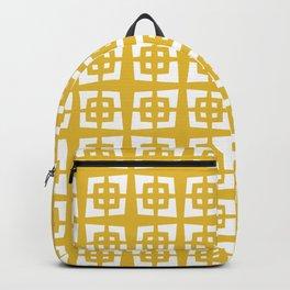 Mid Century Modern Pattern 271 Mustard Yellow Backpack