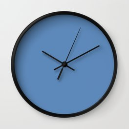 Silver Lake blue - solid color Wall Clock