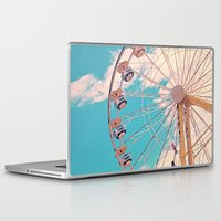 ferris wheel Laptop & iPad Skins featuring Ferris Wheel by Katie_Photography