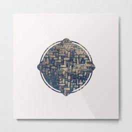 Blue Squircle Metal Print