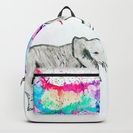 Spray of colour! Backpack