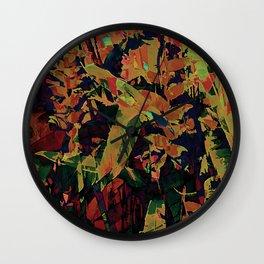 Flora Celeste Golden Sapphire Wall Clock