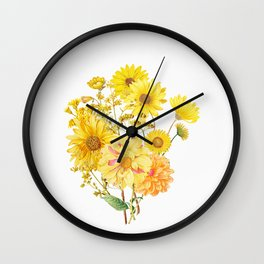 Vintage & Shabby Chic - Late Summer Flowers Wall Clock