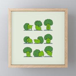 Broccoli Yoga Framed Mini Art Print