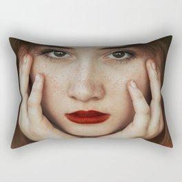 Freckle beauty Rectangular Pillow