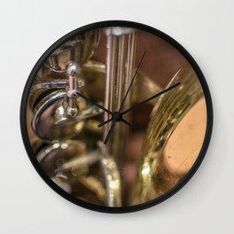 Saxophone detail Wall Clock
