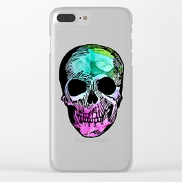 Boho Skull I Clear iPhone Case