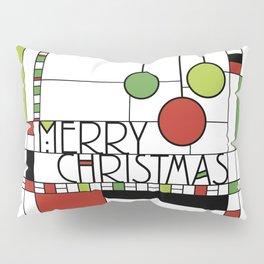 Frank Lloyd Wright Style Christmas Art Pillow Sham