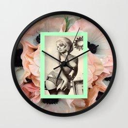 Pin Up Fleur Wall Clock