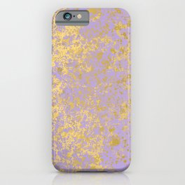 Lavender and Gold Patina Design iPhone Case