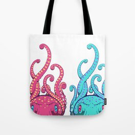 Octopuses (Pink and Blue) Tote Bag