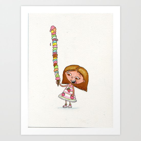 Icecream Art Print