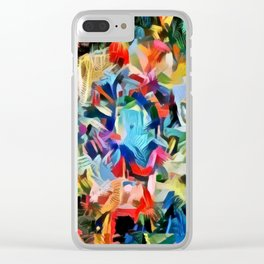 Long Kaleid I Clear iPhone Case