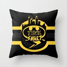 Think Smart Throw Pillow