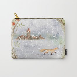Christmas vintage fox Carry-All Pouch