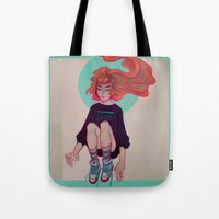 cyarin Tote Bags featuring Breeze by Cyarin