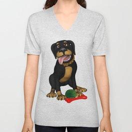 The friendly dog Unisex V-Neck