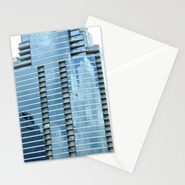 BLUE CHICAGO - CLEANING WINDOWS Stationery Cards