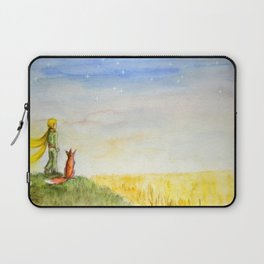 Little Prince, Fox and Wheat Fields Laptop Sleeve