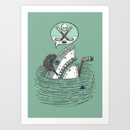 The Enforcer Shark Art Print