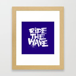 Ride the wave Framed Art Print