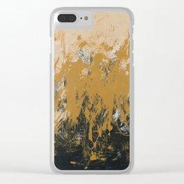 16 x 20 yellow-buff-black Clear iPhone Case