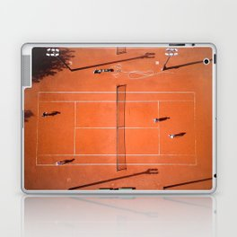 Tennis court orange Laptop & iPad Skin