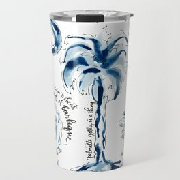 SC Cuisine Blue-and-White Travel Mug