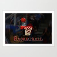 basketball Art Prints featuring Basketball by LoRo  Art & Pictures