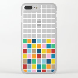 Colour Block Outline Clear iPhone Case
