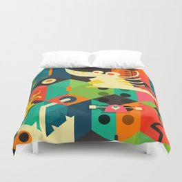 Poached Egg Party Duvet Cover