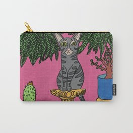 Standard Issue Cat with House Plants Carry-All Pouch