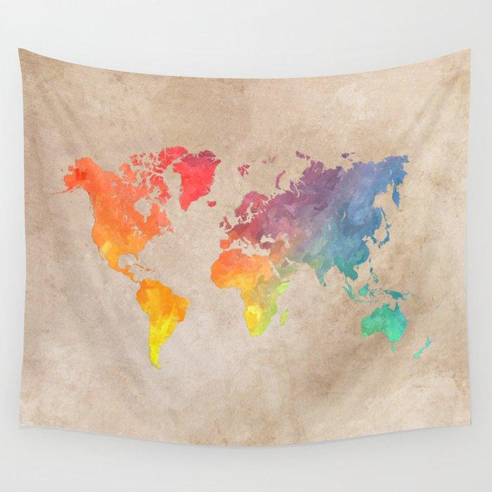 World Map Maps #map #maps #world Wall Tapestry
