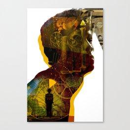 One-armed Timekeeper Canvas Print