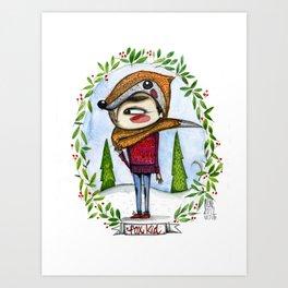 fox kid Art Print