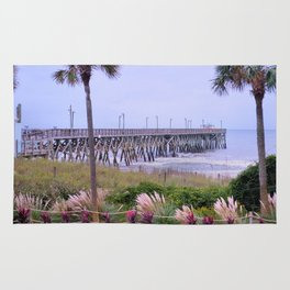 The Last Day Of The Surfside Pier Rug