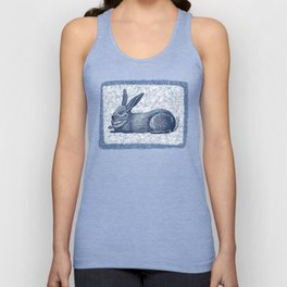 Rabbit print, Vintage Rabbit, Animal Wall Art Unisex Tank Top