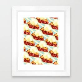 Cherry Pie Pattern Framed Art Print